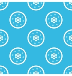 Snow sign blue pattern vector
