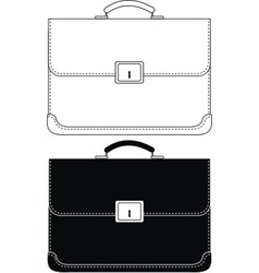 Black leather portfolio vector