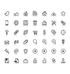 Social web icons vector