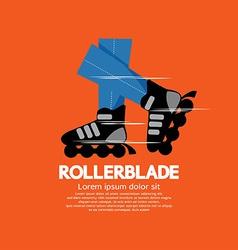 Rollerblade or roller skates vector