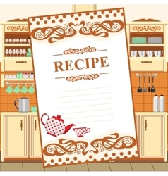 Blank for a recipe vector