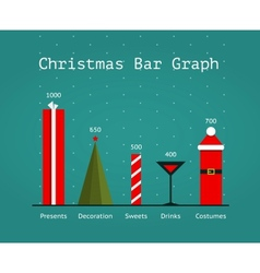Christmas holiday statistics infographics template vector
