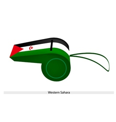 A beautiful whistle of western sahara flag vector