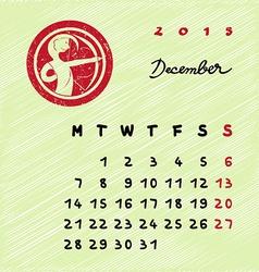 December 2015 zodiac vector