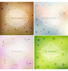 Four season blurred smooth backgrounds set vector