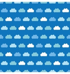 Clouds blue sky seamless pattern vector