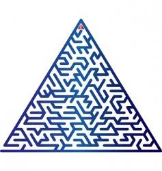Triangle maze vector