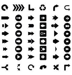 Set of black universal arrows vector