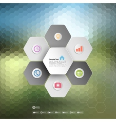 Infographic for business geometric background vector