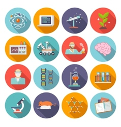 Science and research icon flat vector