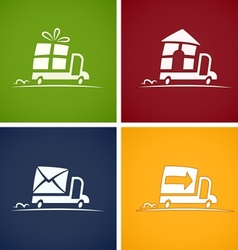 Set icons for delivery service vector