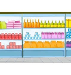 Supermarket cartoon vector