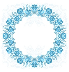 Russian national circular ornament with empty vector