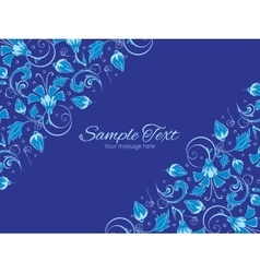 Dark blue turkish floral horizontal double vector