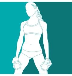Sports girl vector