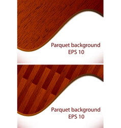 Parquet wooden patterns vector