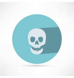 Skull icon isolated vector