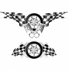 Sports race emblems vector