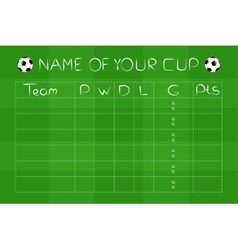 Soccer championship group stages on green field vector