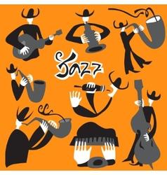 Jazz musicians - vector