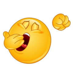 Yawn emoticon vector