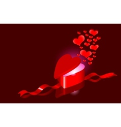 Hearts as love present vector