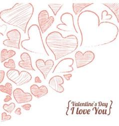 Valentine invitation card vector