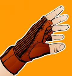 Hand in glove vector