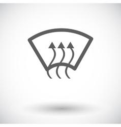 Heating glass single icon vector