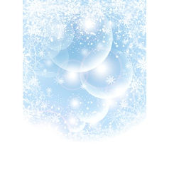 Abstract winter background with transparent balls vector