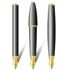 Black pen isolated on the white background vector