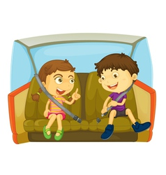 In the car vector