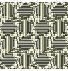 Herringbone striped rhombus background vector