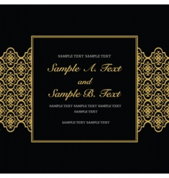 Gold formal frame vector