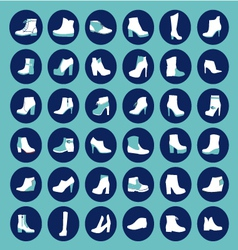 Shoes silhouettes - vector