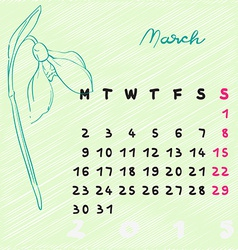 March 2015 flowers vector