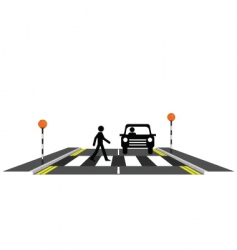 Zebra crossing pedestrian vector