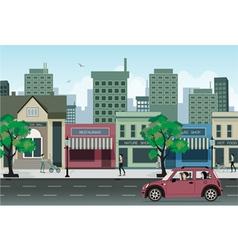 Restaurants in the city vector