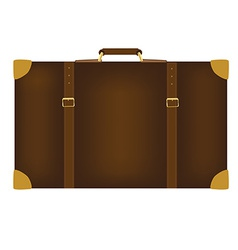 Brown travel bag vector