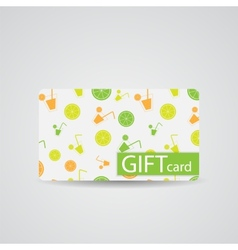 Abstract beautiful drink gift card design vector
