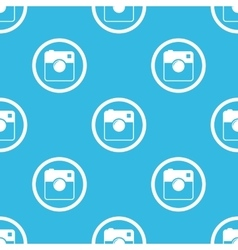Square camera sign blue pattern vector