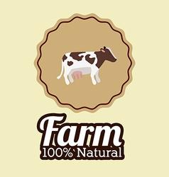 Farm design over beige background vector