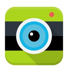 Photo cam flat app icon vector