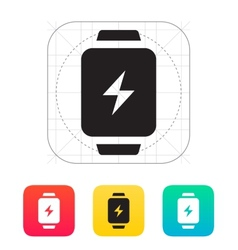 Charge sign in smart watch icon vector
