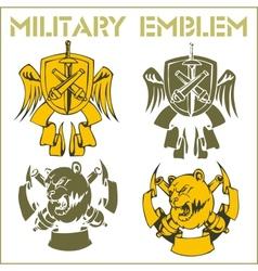Military emblem - set vector