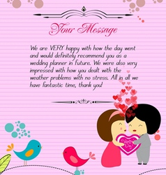 Letterhead valentines pink vector