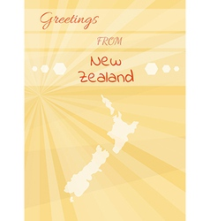 Greetings from new zealand vector