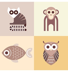 Four animals vector