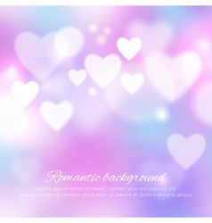 Valentines day romantic background vector