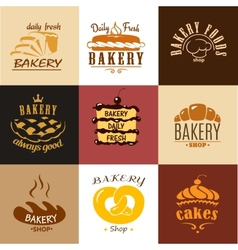 Creative bakery logos and banners vector